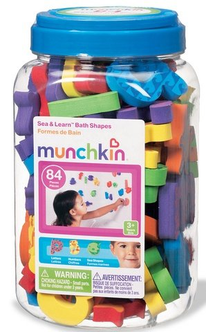 Munchkin Sea & Learn Bath Shapes - 1