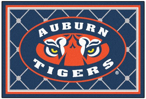FANMATS NCAA Auburn University Tigers Nylon Face 5X8 Plush Rug
