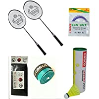 Cosco CB 88 Combo Baminton Kit WITH FREE SPORTSHOUSE WRIST BAND - B01JIPHQDQ