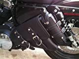 Motorcycle Solo Saddlebag Side Bag Swingarm Bag For Harley Davidson Sportster by Leather Factory Outlet