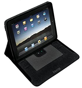 iHome iDM70B iPad Protective Sound Sleeve Case/Stand with Built-in Rechargeable Stereo Speakers
