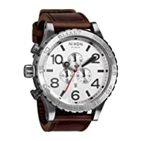 [ニクソン]NIXON NIXON 51-30 CHRONO LEATHER: SILVER/BROWN NA1241113-00 メンズ 【正規輸入品】