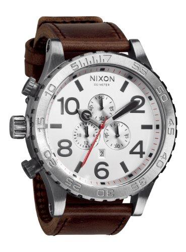 [ニクソン]NIXON NIXON 51-30 CHRONO LEATHER: SILVER/BROWN NA1241113-00 メンズ 【正規輸入品】