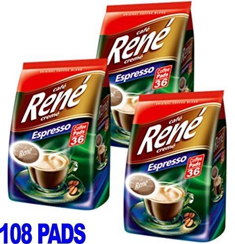 Choose Philips Senseo 108 x Cafe Rene Cremé Espresso Roast Coffee Pads Pods Bag - CAFE-RENE