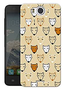 """Wolfs And Foxes Cute Vintage Printed Designer Mobile Back Cover For """"Google Infocus M530"""" By Humor Gang (3D, Matte Finish, Premium Quality, Protective Snap On Slim Hard Phone Case, Multi Color)"""