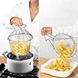 Deziredeal 12 In 1 Chef Basket Strainer Kitchen Cooking Tool Foldable Steam Rinse Strain Fry Chef Basket Strainer...