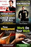 img - for 4-Book Bundle: Defeat Your Lazy Habits, Work On Your Work, Time Management Systems, Focus On Being Productive Not Busy book / textbook / text book