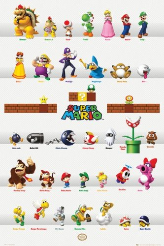 Poster nintendo characters fp2710 - 61x91.5