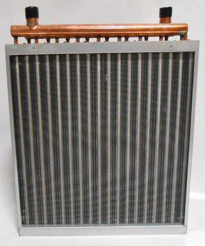 16x18 Water to Air Heat Exchanger Hot Water Coil Outdoor Wood Furnace (Hot Water Exchanger compare prices)