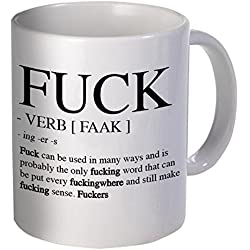 The F Word and Verb Definition Coffee Mug, 11 Ounces