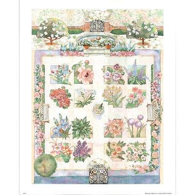 Professionally Framed Flower Garden (Varied Plants) Art Print Poster - 16x20 with RichAndFramous Black Wood Frame