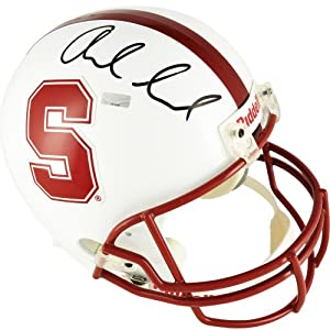 Andrew Luck Stanford Cardinals Autographed Riddell Replica Helmet - Mounted Memories... by Sports+Memorabilia