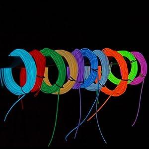 Portable EL Wire 10 Feet Long (Blue)