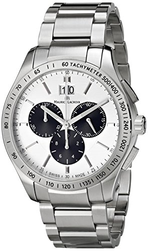 "Maurice Lacroix Men'S Mi1028-Ss002-130 ""Miros"" Stainless Steel Watch"