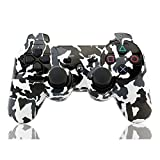 YANX Wireless Double Vibration PS3 Controller for Playstation 3 (Camouflage,Black White)
