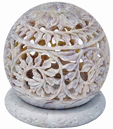 starzebra-super-sale-soapstone-tealight-candle-holder-sphere-shaped-with-intricate-tendril-openwork-