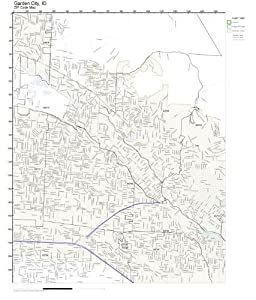 Zip Code Wall Map Of Garden City Id Zip Code Map Laminated Prints