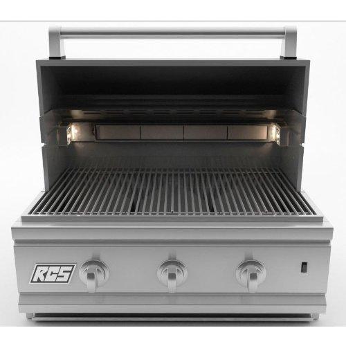 "RCS 27"" Cutlass Series Stainless Grill w/ Rear Burner - Natural Gas"
