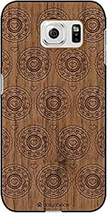 DailyObjects Blue Flowers Real Wood Maple Case For Samsung Galaxy S6