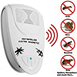 Ultrasonic Pest Repeller - Repells Mice, Rodents, Roaches, Spiders, Fleas, Mosquitoes, and much More - Guaranteed - Mice Repellent - Eliminates All Types of Pest Infestation Without Chemicals - Environmentally Friendly and Safe Pest Control - Indoor Electronic Plug-in Uses Ultrasonic Technology to Drive Pests Away Without Bothering Humans or Pets - 100% Satisfaction Guarantee