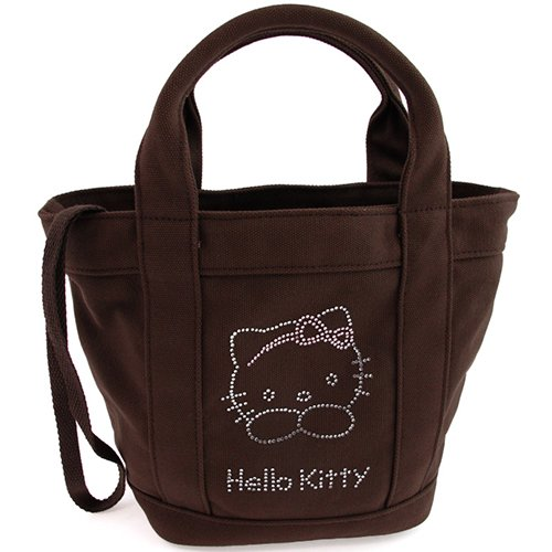 Petit sac à main strass chocolat Hello Kitty By Camomilla