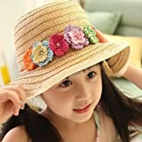 Fresh Flower Child Big Along Strawhat Baby Sun-shading Hat