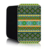 AZTEC Pattern [Green] Nokia Lumia 820 (L) Shock Resistant Neoprene Mobile Phone Case, Cover, Pouch