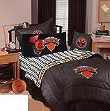 New York Knicks Bedding - NBA Comforter and Sheet Set Combo (Size: Queen)