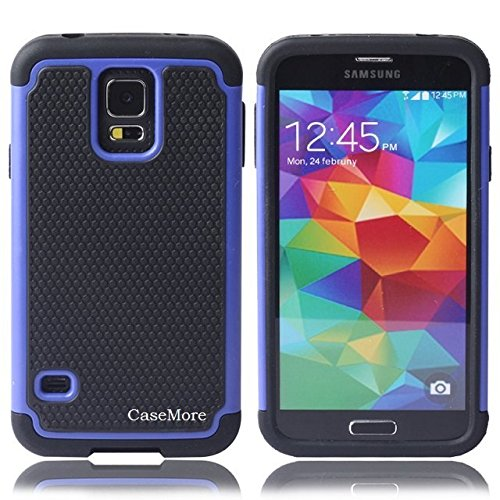 Best Price CaseMore Blue Plastic + Silicon Material Protective Armor Case for Samsung Galaxy S5 S V