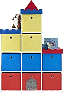 Altra Furniture 9-Bin Kids Storage Unit with Castle Theme