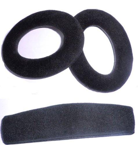 Black Headphone Ear Pads Cushion Replacement Headband Set For Sennheiser Hd515 Hd555 Hd595 Hd518 Headphones Earpad Ear Pad