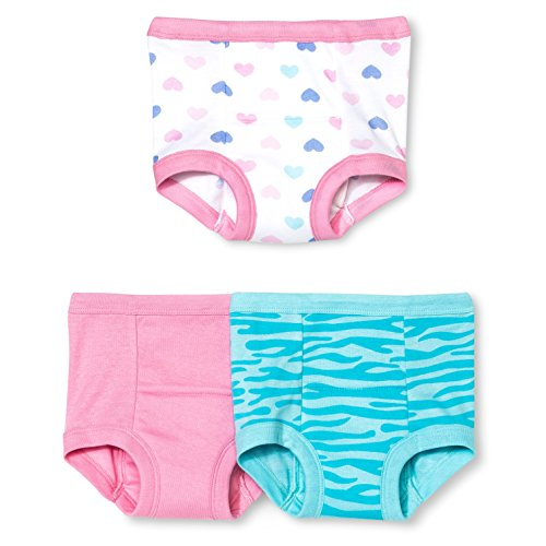 Gerber Little Girls' 3-Pack Training Pant - Hearts (2T)