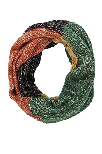 SIZZLE CITY Soft Light-Weight Multicolor or Chain Pattern Infinity Loop Scarf