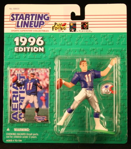 DREW BLEDSOE / NEW ENGLAND PATRIOTS 1996 NFL Starting Lineup Action Figure & Exclusive NFL Collector Trading Card - 1