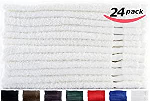 Cotton-Salon-Towels Gym-Towel Hand-Towel 24-Pack White - (16 inches x 27 inches) 100% Ringspun-Cotton, Maximum Softness and Absorbency, Easy Care - By Utopia Towels