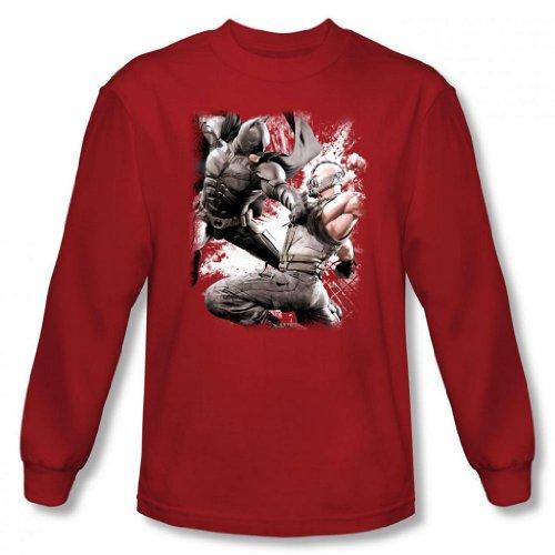 Dark Knight Rises - Batman & Bane Final Fight Men's Long Sleeve T-Shirt