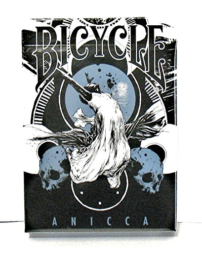 Anicca Playing Cards By Card Experiment By Designer Simon Prades -Metallic Blue Bicycle Edition - 1