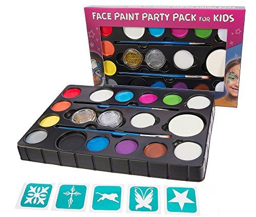 face-paint-kit-for-kids-14-color-xl-party-pack-4-sponges-2-glitter-gels-2-brushes-stencils-large-3-4