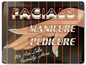 Amazon.com : BEAUTY SHOP MANICURE METAL SIGN / nail salon
