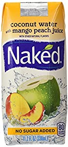 Naked Juice Coconut Water + Peach Mango, 11.2-Ounce Containers (Pack of 12)