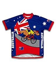 Australia Kangaroo Rider Short Sleeve Cycling Jersey for Women
