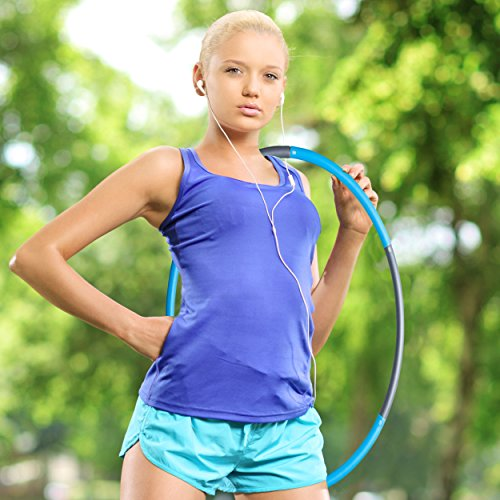 AZSPORT Weighted Hula Hoop for Fitness and Workout, 2lbs