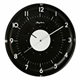 RHYTHM Value Added Wall Clock with Silent Movement in Black Colour