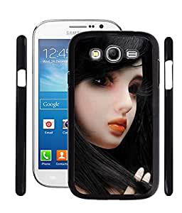 Fuson PVC-2D Metallic Printed Girl Designer Back Case Cover for Samsung Galaxy Grand 2 SM-G7102 - RD747