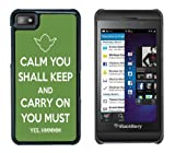 BlackBerry Z10 Fun, Funny, Cool Keep Calm And Carry On Case/Cover + Screen Protector