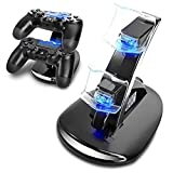 YCCTEAM® Playstation 4 Charger, Dual USB Charging Docking Station for Playstation 4 PS4 Controller