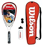 Wilson Tour Pro Junior Squash Racket Set with Bag, Waterbottle & Balls RRP £75