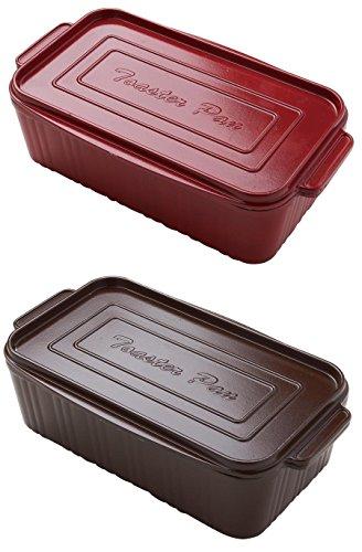 葛恵子のトースタークッキング専用 トースターパン 2個組 (レッド&ブラウン)