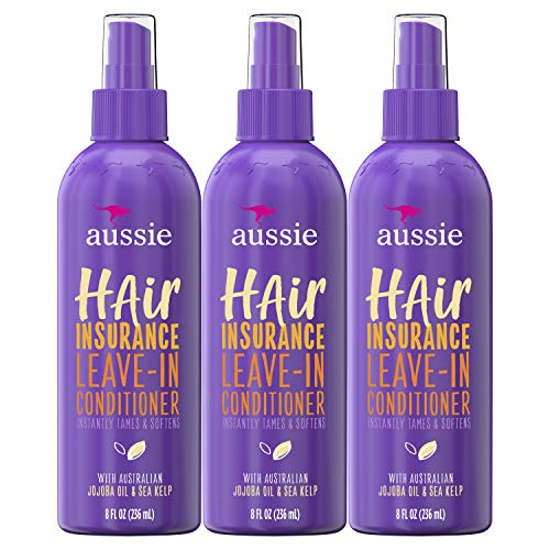 Aussie, Leave In Conditioner, with Jojoba & Sea Kelp, Hair Insurance, 8 fl oz, Triple Pack
