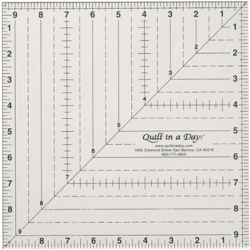 Quilt In A Day 9-1/2-Inch by 9-1/2-Inch Square Up Ruler